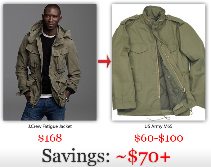 The US Army instead of J.Crew