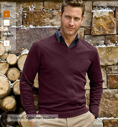 V-Neck Wool/Cashmere Sweaters
